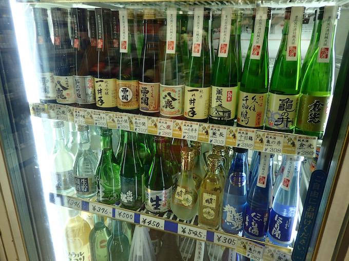 大分の地酒180mlミニボトルが並ぶ