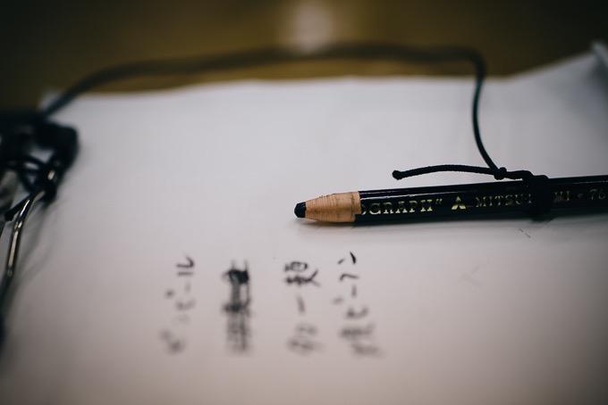 懐かしの紐を引っ張ったら芯が出てくる鉛筆