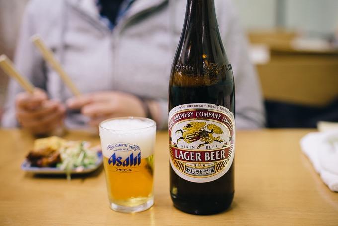 ビールは瓶のみ